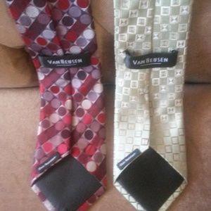 """Van Heusen Accessories - VanHeusen """"Flashy"""" Geo men's tie bundle"""